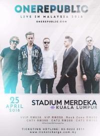 OneRepublic - Kuala Lumpur, Malaysia